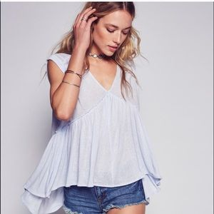 Free people into the night flowy tee